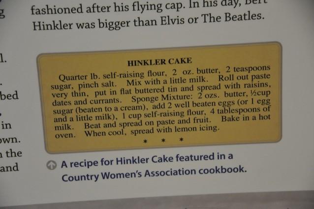 Hinkler's cake recipe
