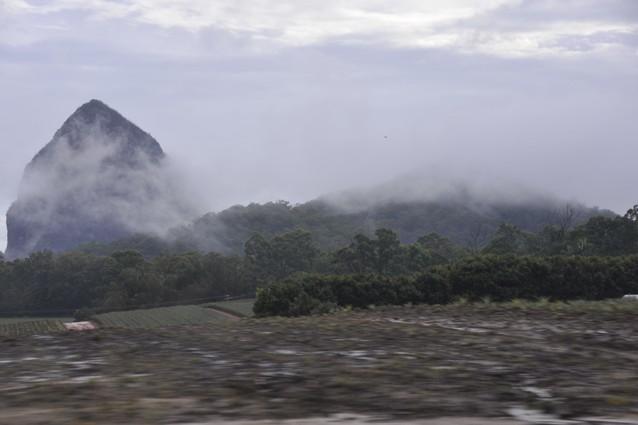 rainy landscape