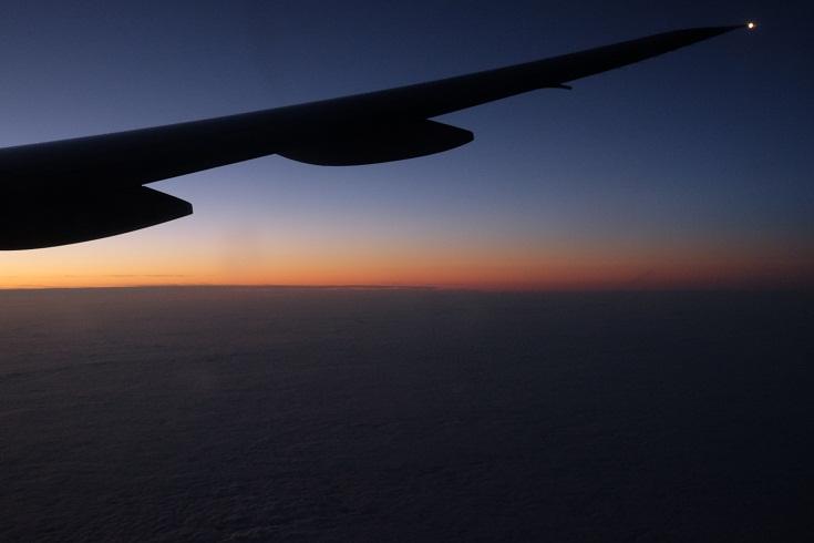 sunrise from United plane