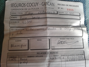 insurance for el cocuy