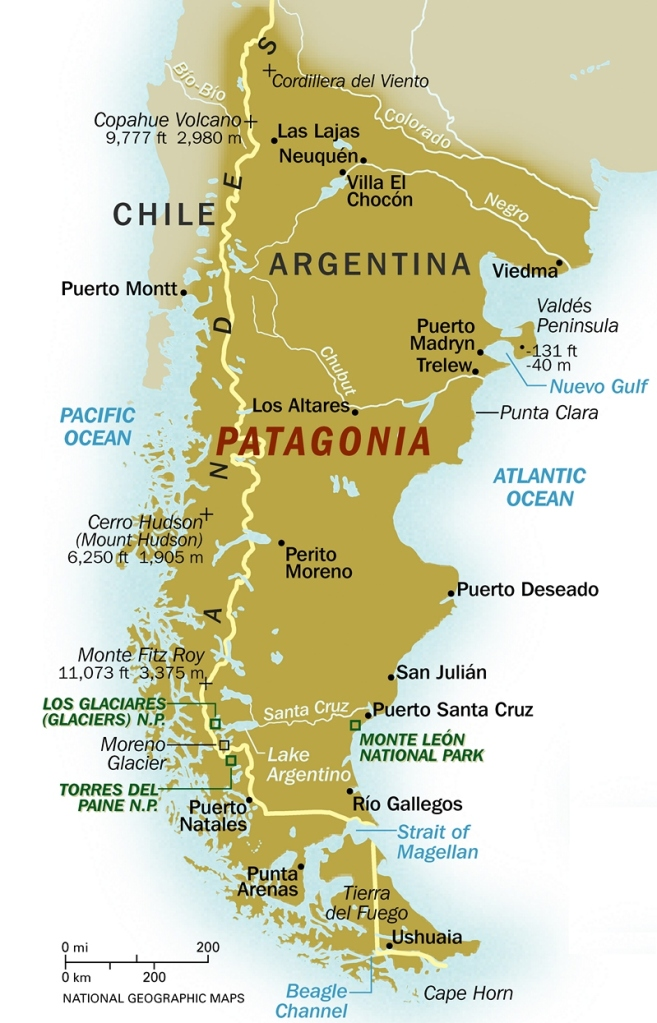 Map Patagonia
